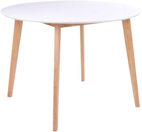På billedet ser du variationen Vojens, Spisebord rundt fra brandet Nordby i en størrelse H: 75 cm. B: 105 cm. L: 105 cm. i farven Hvid/Natur