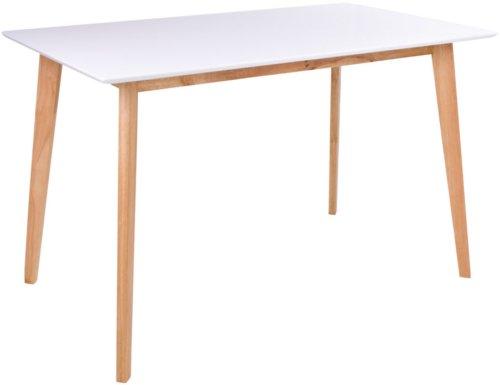På billedet ser du variationen Vojens, Spisebord firkantet fra brandet Nordby i en størrelse H: 75 cm. B: 70 cm. L: 120 cm. i farven Hvid/Natur