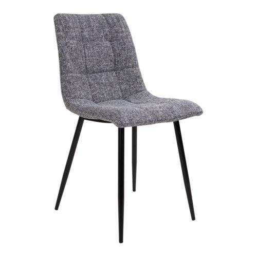 På billedet ser du variationen Balka, Spisebordsstol i stof fra brandet Nordby i en størrelse H: 86 cm. B: 44 cm. L: 55 cm. i farven Grå/Sort