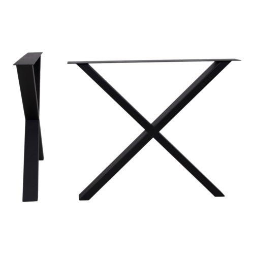På billedet ser du variationen Vegger, X-bordben til plankeborde, understel fra brandet Nordby i en størrelse H: 72 cm. B: 10 cm. L: 86 cm. i farven Grå/Natur