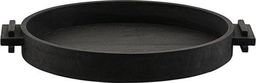 På billedet ser du variationen Bakke, Block, Circle fra brandet House Doctor i en størrelse Ø: 45 cm. H: 6 cm. i farven Sort