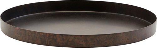 På billedet ser du variationen Bakke, Ella fra brandet House Doctor i en størrelse Ø: 30 cm. H: 2,5 cm. i farven Mat Jern/Sort