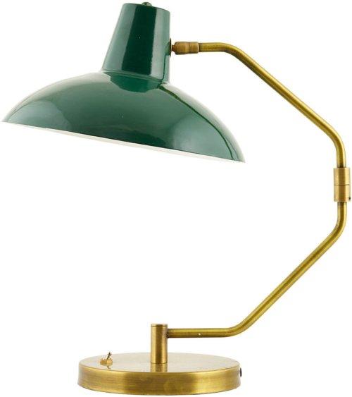 På billedet ser du variationen Bordlampe, Desk fra brandet House Doctor i en størrelse D: 31 cm. H: 48 cm. i farven Grøn