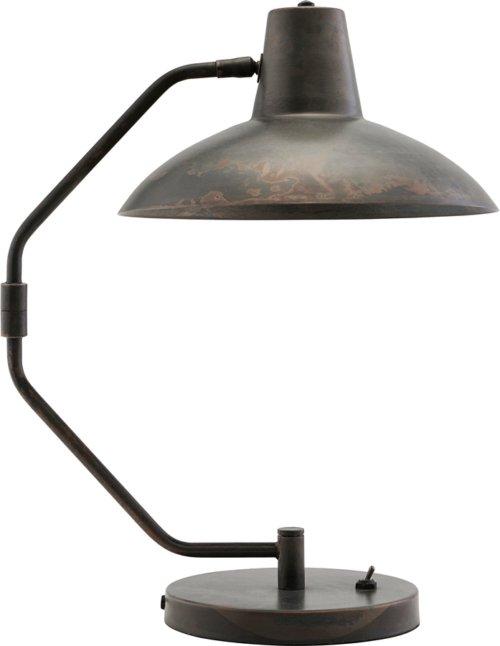På billedet ser du variationen Bordlampe, Desk fra brandet House Doctor i en størrelse D: 31 cm. H: 48 cm. i farven Antik Brun