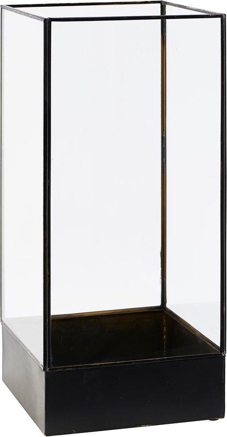 På billedet ser du variationen Displayboks, Plant fra brandet House Doctor i en størrelse H: 45 cm. B: 21 cm. L: 21 cm. i farven Antik Sort