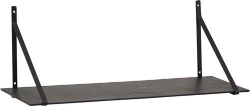 På billedet ser du variationen Hylde M. Jernophæng, Lemmy fra brandet House Doctor i en størrelse H: 25 cm. B: 24,5 cm. L: 70 cm. i farven Sort
