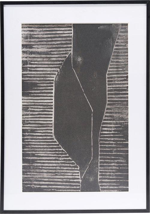 På billedet ser du variationen Illustration m. ramme, Fields fra brandet House Doctor i en størrelse H: 1,6 cm. B: 42 cm. L: 59,5 cm. i farven Grå/1