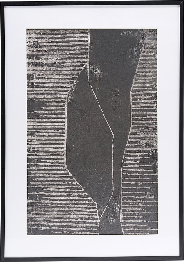 Illustration m. ramme, Fields by House Doctor (H: 1,6 cm. B: 42 cm. L: 59,5 cm., Grå/1)