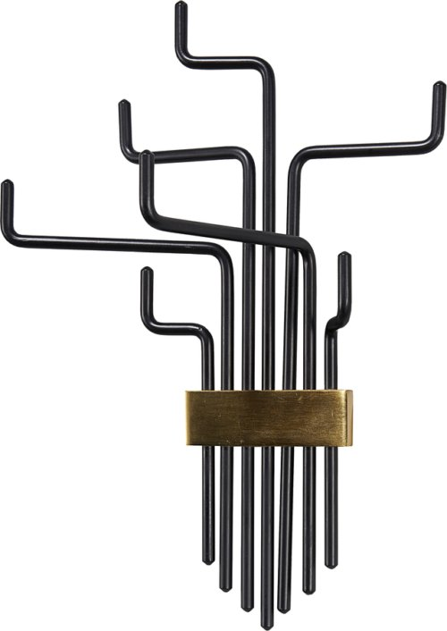 På billedet ser du variationen Knage, Pipes fra brandet House Doctor i en størrelse L: 42,5 cm. i farven Sort