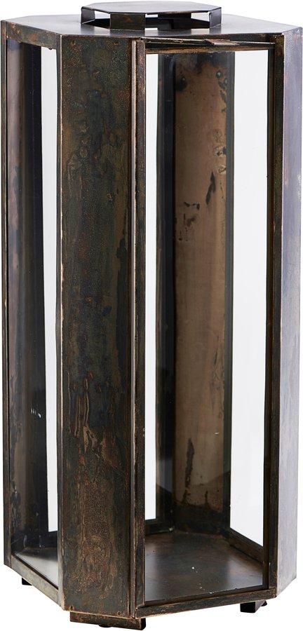 Image of   Lanterne, Baazi by House Doctor (H: 48,5 cm. B: 20 cm. L: 20 cm., Lanterne, Baazi, Antik Brun)