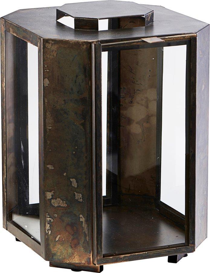 Image of   Lanterne, Baazi by House Doctor (H: 28,5 cm. B: 20 cm. L: 20 cm., Lanterne, Baazi, Antik Brun)