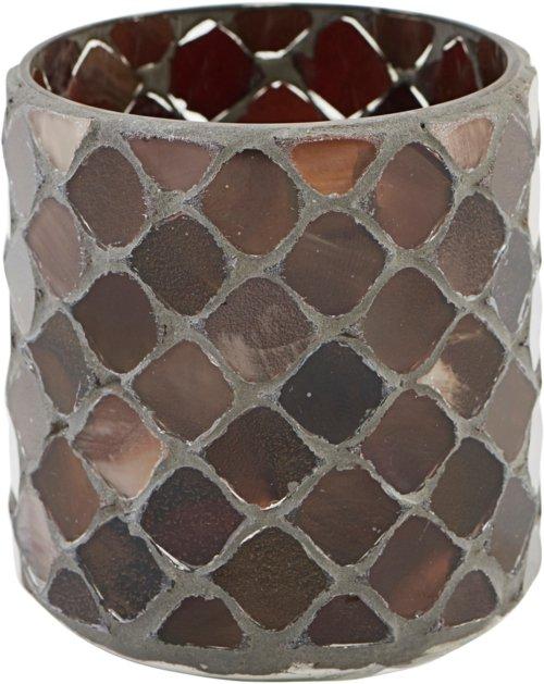 På billedet ser du variationen Lysestage, Brownie fra brandet House Doctor i en størrelse Ø: 6,5 cm. H: 8 cm. i farven Brun