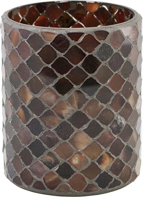 På billedet ser du variationen Lysestage, Brownie fra brandet House Doctor i en størrelse Ø: 10 cm. H: 12,5 cm. i farven Brun