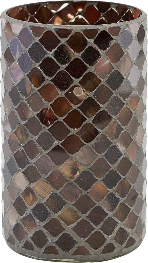 På billedet ser du variationen Lysestage, Brownie fra brandet House Doctor i en størrelse Ø: 10 cm. H: 17 cm. i farven Brun