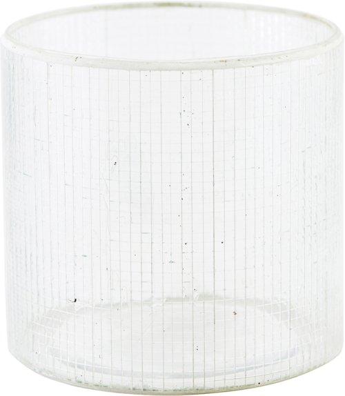 På billedet ser du variationen Lysestage, Check fra brandet House Doctor i en størrelse Ø: 10 cm. H: 10 cm. i farven Sølv