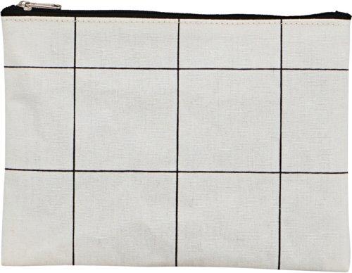 På billedet ser du variationen Makeup Taske, Squares fra brandet House Doctor i en størrelse H: 15 cm. L: 21 cm. i farven Hvid