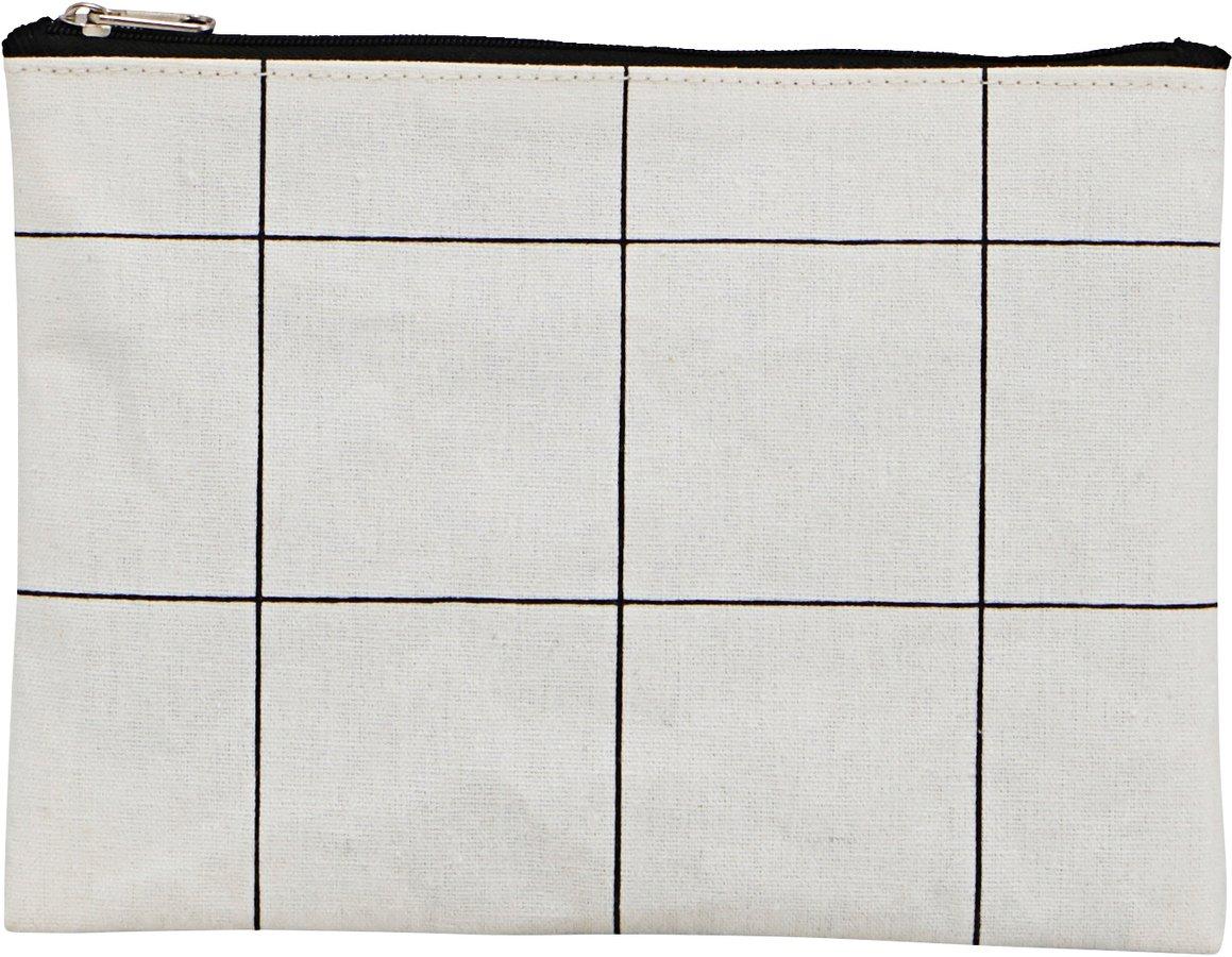 Makeup Taske, Squares by House Doctor (H: 15 cm. L: 21 cm., Hvid)