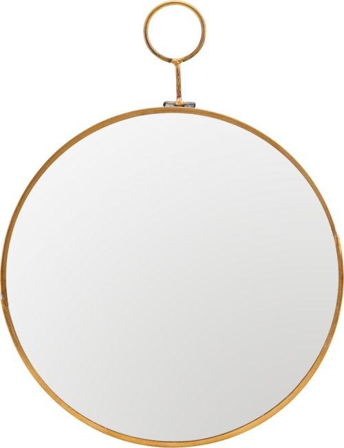 På billedet ser du variationen Spejl, Loop, Round fra brandet House Doctor i en størrelse Ø: 22 cm. i farven Messing