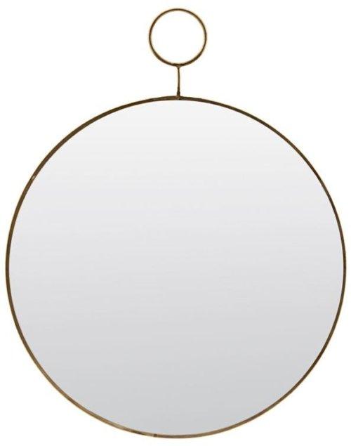 På billedet ser du variationen Spejl, Loop, Round fra brandet House Doctor i en størrelse Ø: 32 cm. i farven Messing
