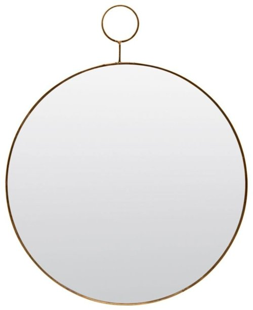 På billedet ser du variationen Spejl, Loop, Round fra brandet House Doctor i en størrelse Ø: 38 cm. i farven Messing