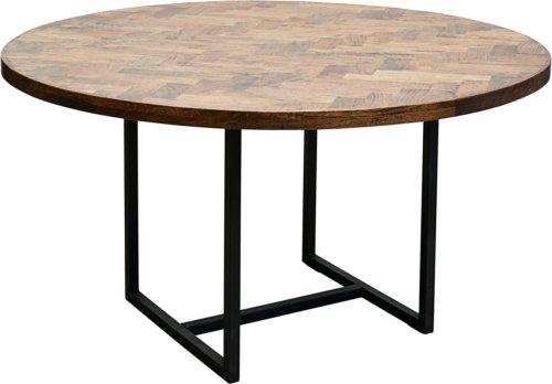 På billedet ser du variationen Spisebord, Kant, Round fra brandet House Doctor i en størrelse Ø: 140 cm. H: 74 cm. i farven Mørk Natur