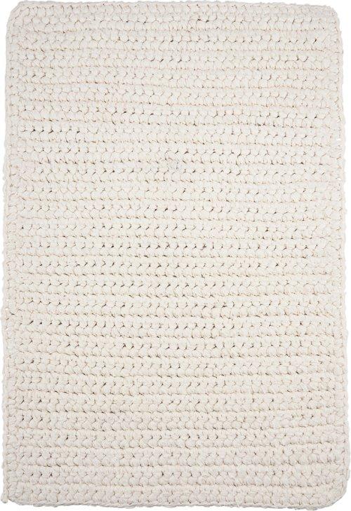 På billedet ser du variationen Tæppe, Crochet, Square fra brandet House Doctor i en størrelse B: 60 cm. L: 90 cm. i farven Hvid