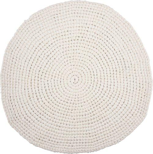 På billedet ser du variationen Tæppe, Crochet, Circle fra brandet House Doctor i en størrelse Ø: 80 cm. i farven Hvid
