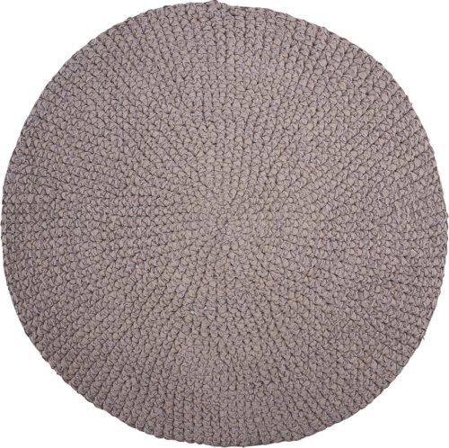 På billedet ser du variationen Tæppe, Crochet, Circle fra brandet House Doctor i en størrelse Ø: 80 cm. i farven Grå