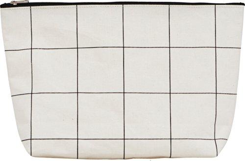 På billedet ser du variationen Toilettaske, Squares fra brandet House Doctor i en størrelse H: 20 cm. B: 8 cm. L: 32 cm. i farven Hvid