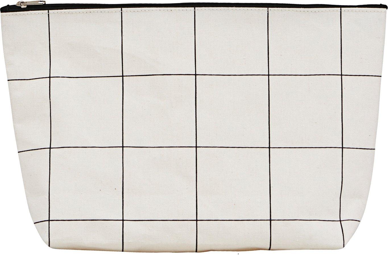 Toilettaske, Squares by House Doctor (H: 20 cm. B: 8 cm. L: 32 cm., Hvid)