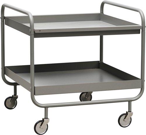 På billedet ser du variationen Trolley, Roll, Low fra brandet House Doctor i en størrelse H: 60 cm. B: 60 cm. L: 60 cm. i farven Grå