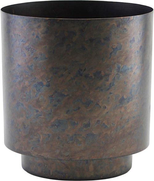 På billedet ser du variationen Urtepotte, Como fra brandet House Doctor i en størrelse Ø: 20 cm. H: 25 cm. i farven Mat Jern/Sort
