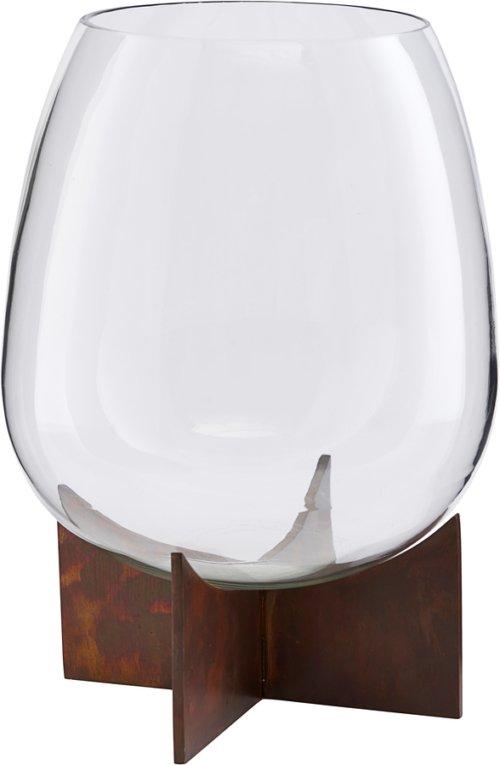På billedet ser du variationen Vase, Gravity fra brandet House Doctor i en størrelse H: 30 cm. B: 18 cm. L: 18 cm. i farven Jern