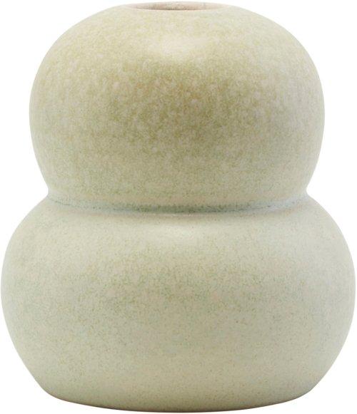 På billedet ser du variationen Vase, Mini Bobbles, Double fra brandet House Doctor i en størrelse Ø: 9 cm. H: 10,5 cm. i farven Grå/Lysegrøn