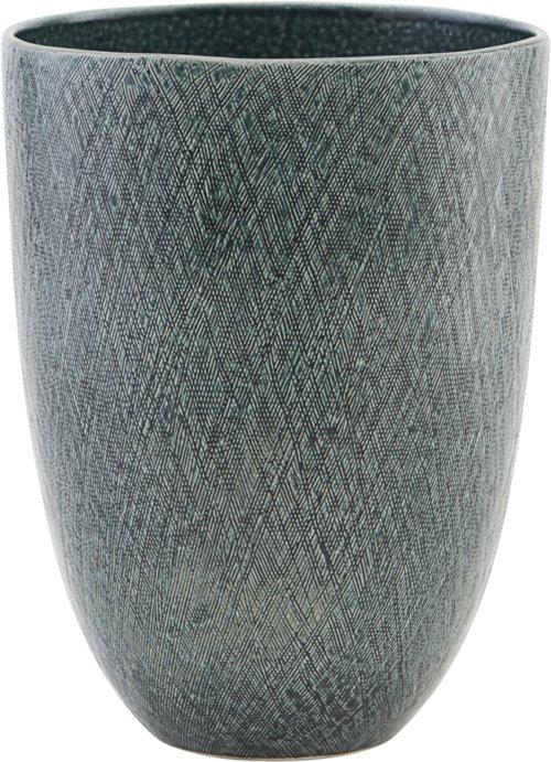 På billedet ser du variationen Vase/Urtepotter, Anil fra brandet House Doctor i en størrelse Ø: 16,5 cm. H: 23 cm. i farven Blå/Grøn
