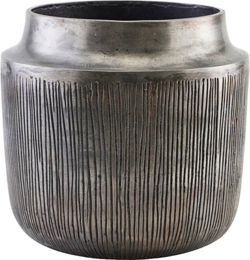 På billedet ser du variationen Vase/Urtepotter, Heylo fra brandet House Doctor i en størrelse Ø: 24 cm. H: 23 cm. i farven Oxideret søvl