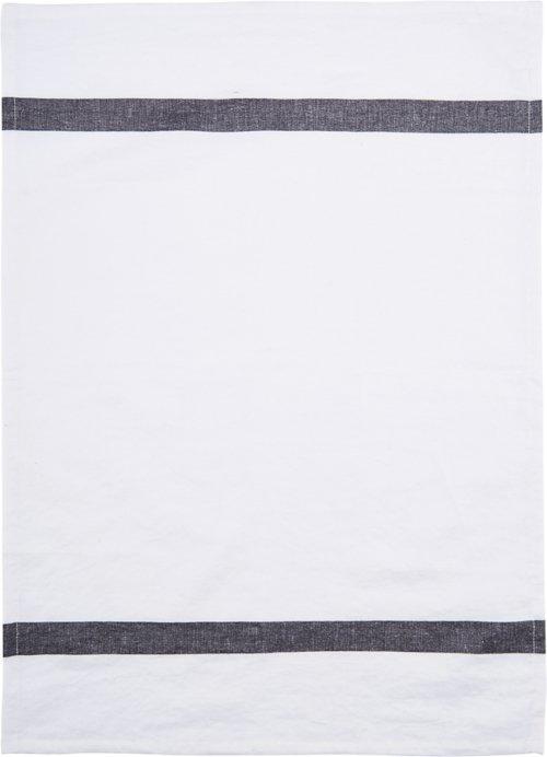 På billedet ser du variationen Viskestykke, Nila fra brandet House Doctor i en størrelse B: 50 cm. L: 70 cm. i farven Hvid