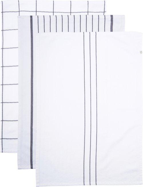 På billedet ser du variationen Viskestykke, Opa fra brandet House Doctor i en størrelse B: 50 cm. L: 70 cm. i farven Hvid