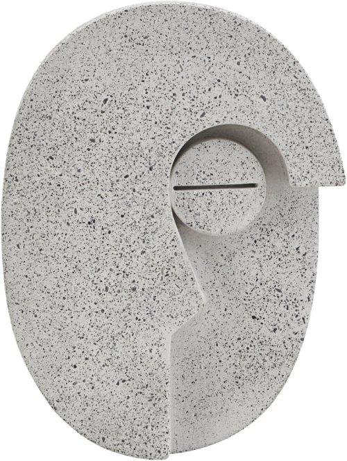 På billedet ser du variationen Wall Art, Face fra brandet House Doctor i en størrelse H: 14 cm. B: 10,5 cm. i farven Grå