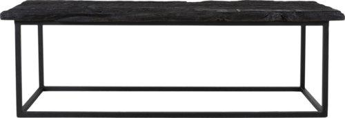 På billedet ser du variationen Hayes, Bænk i massiv træ, aflang fra brandet Canett Furniture i en størrelse H: 42 cm. B: 45 cm. L: 130 cm. i farven Sort/Sort