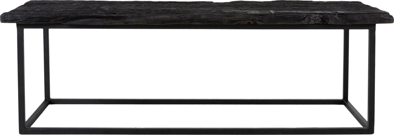 Hayes, Bænk i massiv træ, aflang by Canett Furniture (H: 42 cm. B: 45 cm. L: 130 cm., Sort/Sort)