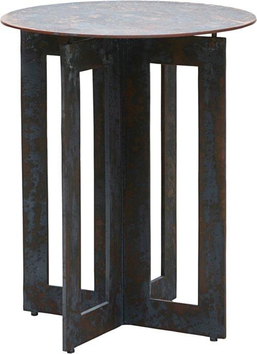 På billedet ser du variationen Sidebord, Frame fra brandet House Doctor i en størrelse Ø: 45 cm. H: 56 cm. i farven Antik brun