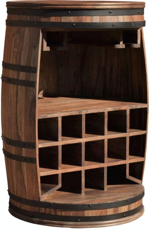 På billedet ser du variationen Vintønde barskab, Rosey fra brandet OBUZI i en størrelse D: 65 cm. H: 90 cm. i farven Mørk Natur/Sort