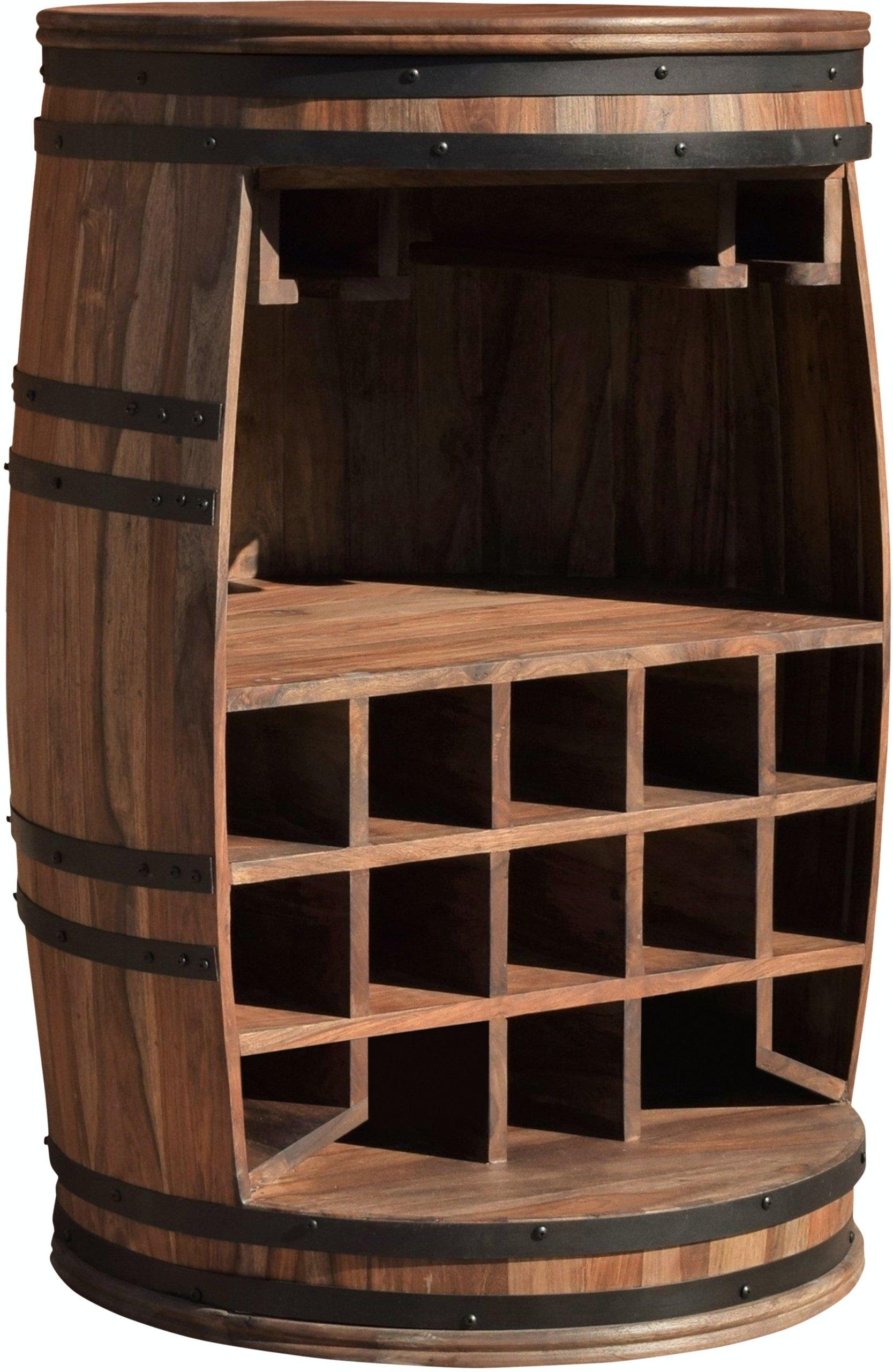 Billede af Vintønde barskab, Rosey by OBUZI (D: 65 cm. H: 90 cm., Mørk Natur/Sort)