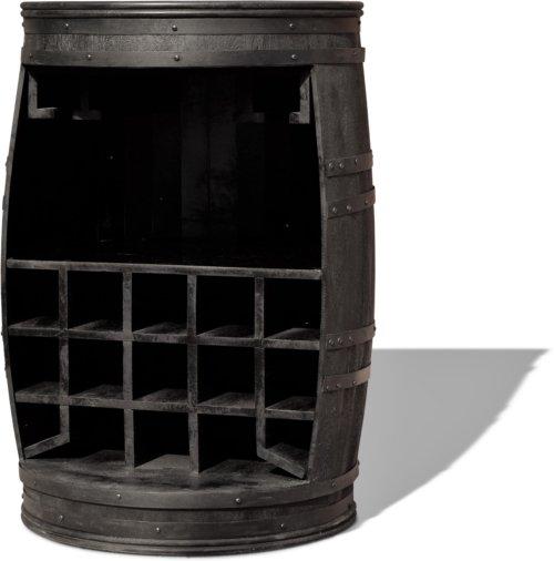 På billedet ser du variationen Vintønde barskab, Rosey-Black fra brandet OBUZI i en størrelse D: 65 cm. H: 90 cm. B: 65 cm. L: 65 cm. i farven Sort