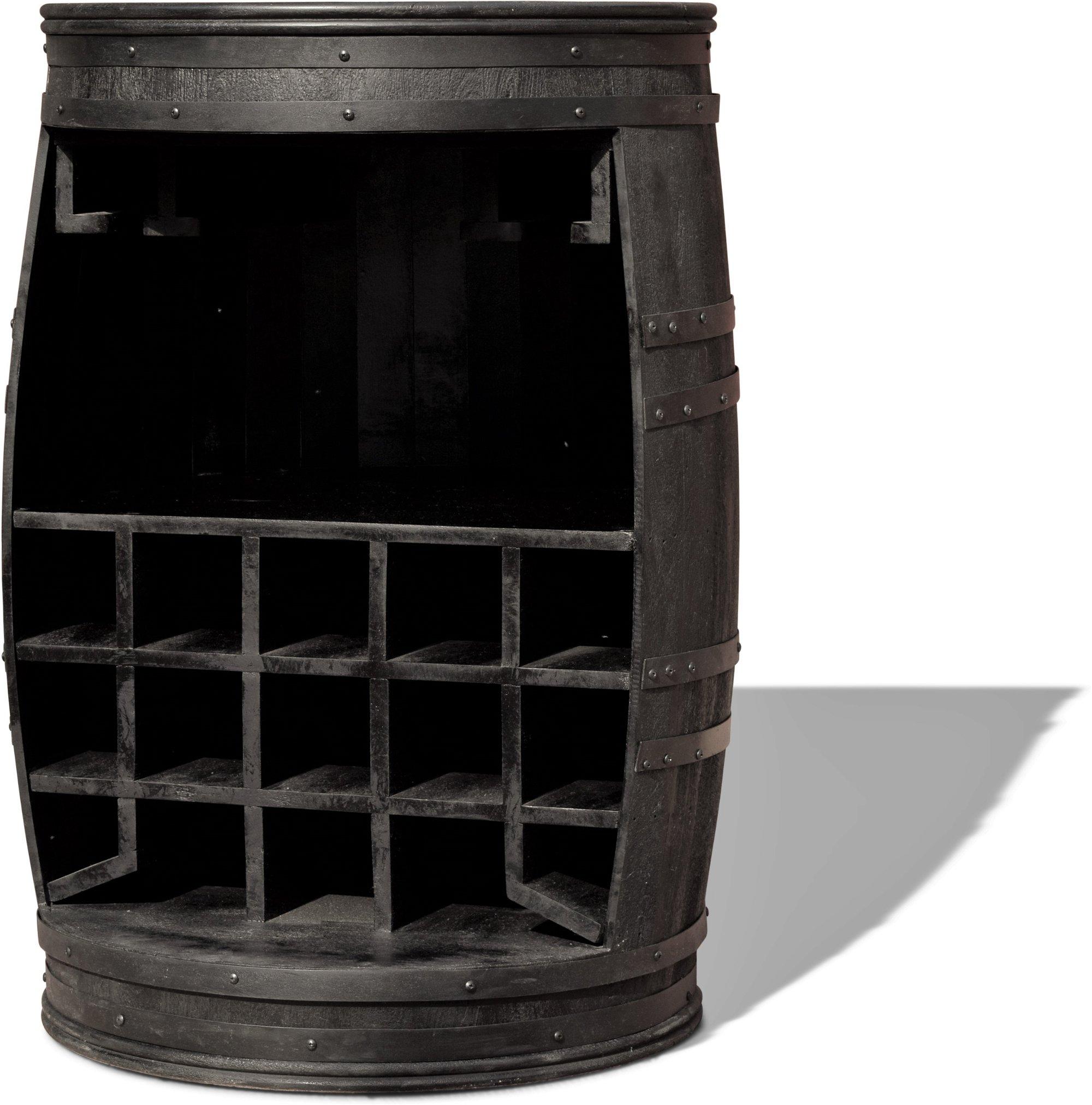 Billede af Vintønde barskab, Rosey-Black by OBUZI (D: 65 cm. H: 90 cm. B: 65 cm. L: 65 cm., Sort)
