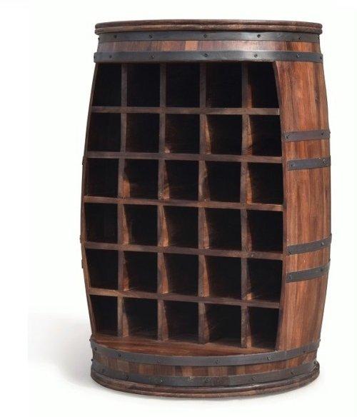 På billedet ser du variationen Vintønde barskab, Rosey-O fra brandet OBUZI i en størrelse D: 65 cm. H: 90 cm. i farven Mørk Natur/Sort