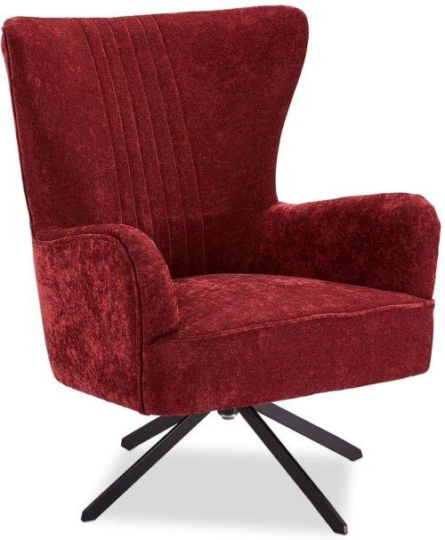 På billedet ser du variationen Halton, Loungestol, Stof fra brandet Raymond & Hallmark i en størrelse H: 93 cm. B: 75 cm. i farven Rød