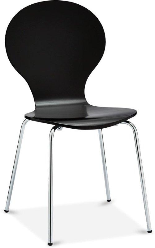 På billedet ser du et stemningsbillede (#5) fra Stow, Spisebordsstol fra brandet Raymond & Hallmark i en størrelse H: 86 cm. B: 52 cm. i farven Sort