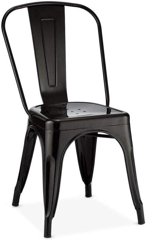På billedet ser du et stemningsbillede (#5) fra Islay, Spisebordsstol, Lakeret stål fra brandet Raymond & Hallmark i en størrelse H: 85 cm. B: 43 cm. i farven Sort